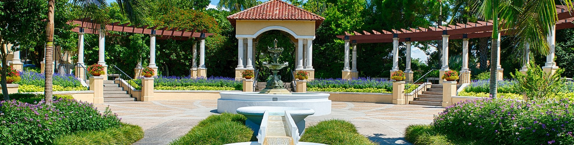 Hollis Gardens fountain in Lakeland, FL