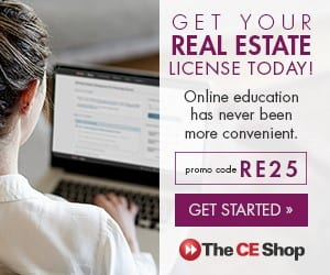 Photo of real estate license course ad